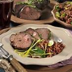 Pečené daňčí maso s bio rýží
