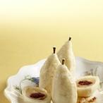 Hruškové knedlíky plněné višněmi