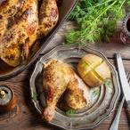 Dušené kuře v červeném víně