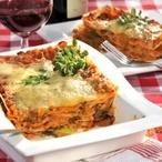 Lasagne s pórkem a červenou čočkou