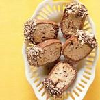 Dvoubarevné ořechové sušenky