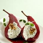 Vinné hrušky s krémovou gorgonzolou
