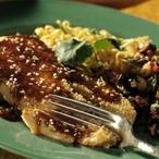 Grilovaný losos v sezamu