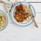 Kotleta s rozmarýnem a česnekem