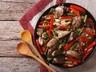 Drůbeží játra s čekankovým salátem s rýží