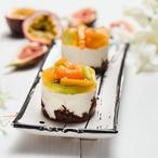 Fit dortík s tropickým ovocem