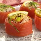 Sushi z uzeného lososa