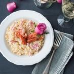 Krevetové risotto s růží