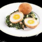 Smažená vejce se špenátem