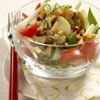Bramborový salát s mandlemi a kapary