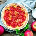 Růžičkový jablečný koláč