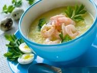 Krevetová polévka se zázvorem