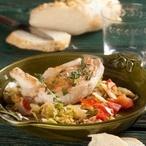 Kuřecí prsíčka s teplým zelným salátem