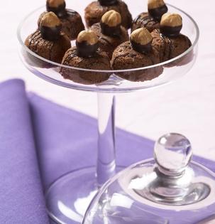 Čokoládovo–marcipánové košíčky