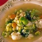 Polévka z brokolice a květáku