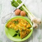 Omeleta s pórkem
