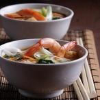 Ostrá polévka s krevetami
