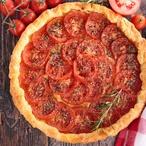 Slaný rajčatový koláč