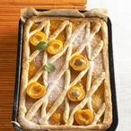Mřížkový koláč s meruňkami