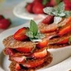 Karamelové placičky s jahodami