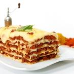 Rajčatové lasagne s hráškem