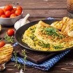 Omeleta  s kopřivovou náplní
