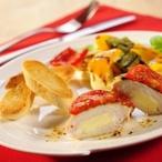 Kuřecí prsíčka plněná sýrem a rajčaty