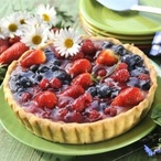 Linecký koláč s ovocným rosolem