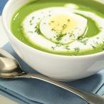 Špenátová polévka s vejcem