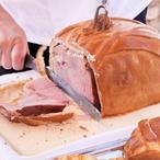 Pražská šunka zapečená v chlebu