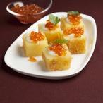 Bramborové kostky s kaviárem