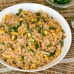 Zelená smažená rýže