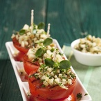 Rajčata s bazalkovou strouhankou