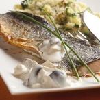 Pečená rybí filátka s houbami na kyselo