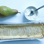 Hruškový koláč z listového těsta