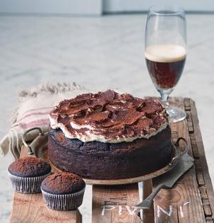 Čokoládový dort s tmavým pivem