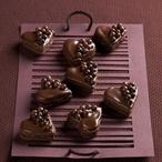 Čokoládová srdíčka s kuličkami