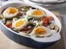 Pečená zelenina s rýží a vejcem