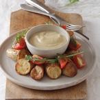 Lilková pasta s řeckým jogurtem