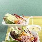 Dietní salát s krůtí šunkou