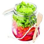 Čerstvý salát do skleniček