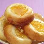 Meruňkové koláčky s pomerančovým džemem