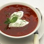 Jahodová polévka s limetkovými noky
