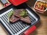 Hovězí steak se salátem z pečených paprik s mátou a chimichurri