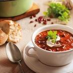 Pikantní mexická tomatová polévka