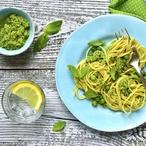 Špagety s hráškovým pestem I