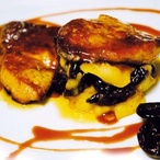 Pečená kachní játra foie gras