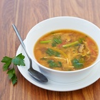 Zeleninová polévka miso se shiitake