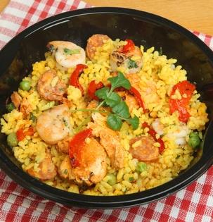 Rýže s chozizem a cuketou