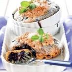 Borůvkové koláčky s kokosovým sněhem